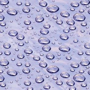 Raindrops on plastic