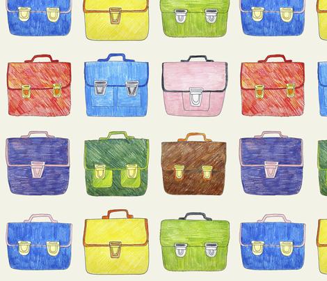 Hand Drawn School Bags fabric by marketa_stengl on Spoonflower - custom fabric