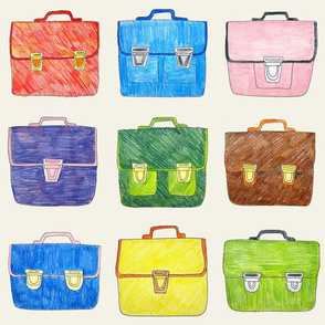Hand Drawn School Bags