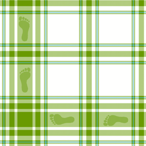 barefoot hiking plaid - leaf fabric by weavingmajor on Spoonflower - custom fabric