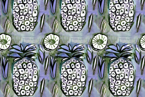 pina_bluegreen by C'EST LA VIV fabric by @vivsbeautifulmess on Spoonflower - custom fabric