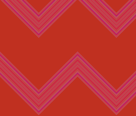 Orange and Pink Chevron fabric by gingezel on Spoonflower - custom fabric