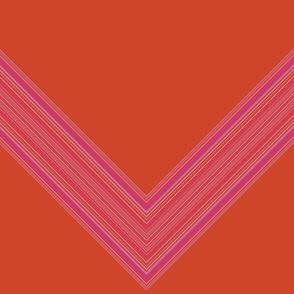 Orange and Pink Chevron