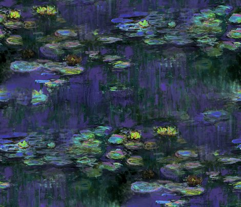 Rclaude_monet___waterliliies___night___peacoquette_designs___copyright_2014_shop_preview
