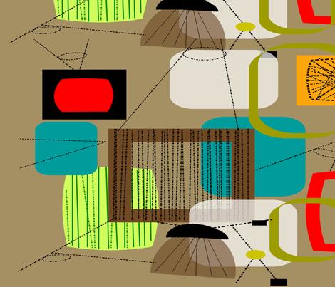 Mid-Century Modern Atomic Era fabric by hot4tees_bg@yahoo_com on Spoonflower - custom fabric