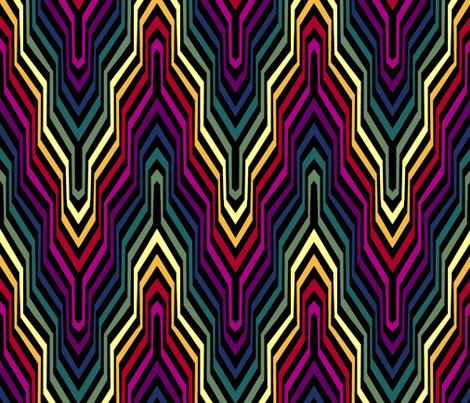 Rainbow Garden Carpet Chevron fabric by pond_ripple on Spoonflower - custom fabric