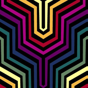 Rainbow Garden Carpet Chevron II.