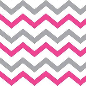 Pink & Gray Chevron