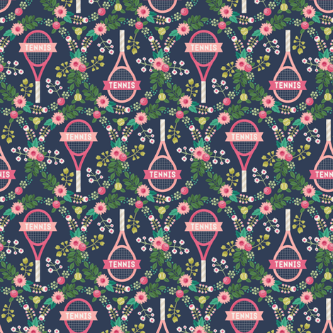 Tennis fabric by laura_mayes on Spoonflower - custom fabric
