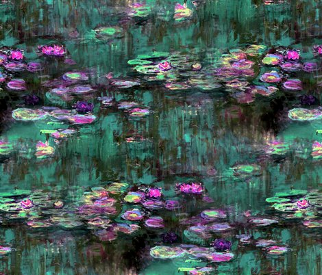 Rrclaude_monet___waterliliies___emerald_and_orchid___peacoquette_designs___copyright_2014_shop_preview