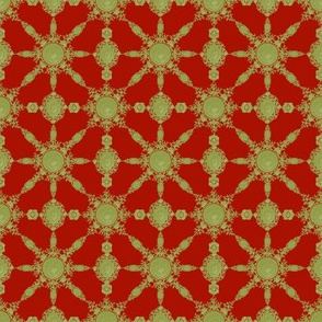 Lace Ceramique ~ Jade on Turkey Red