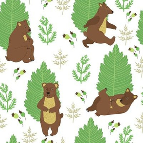 Forest story about little bears