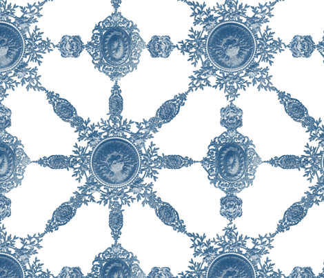 Lace Ceramique ~  Lonely Angel fabric by peacoquettedesigns on Spoonflower - custom fabric