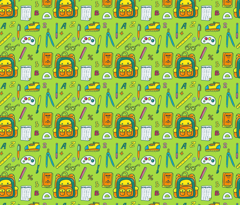 Back to school fabric by sky_lantern on Spoonflower - custom fabric