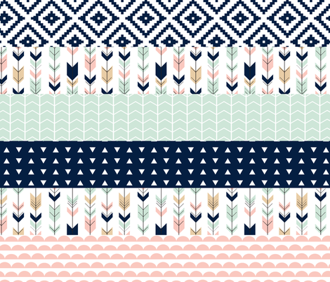 Briar Woods Wholecloth // Cheater Quilt fabric by littlearrowdesign on Spoonflower - custom fabric