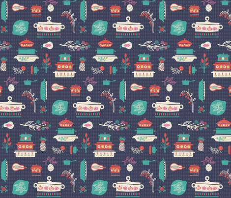 Casserole Kitchen fabric by ceneri on Spoonflower - custom fabric
