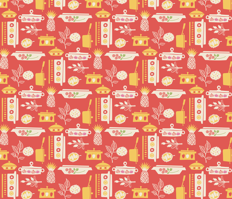 Spicy Casserole Kitchen fabric by ceneri on Spoonflower - custom fabric