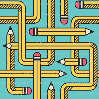 Pencil Maze Pattern Classic