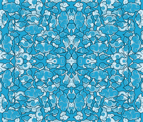 Korean_Klouds_Almost_Blue fabric by cairocraft on Spoonflower - custom fabric