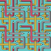 Pencil Maze Pattern mixed small