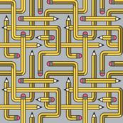 Pencil Maze Pattern grey small