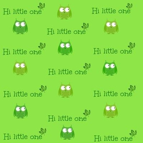 Hi little one - owl