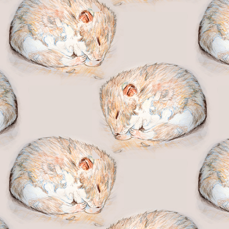 Sleeping hamster fabric by eclectic_house on Spoonflower - custom fabric