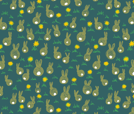 bunnies fabric by jenniferpanepinto on Spoonflower - custom fabric