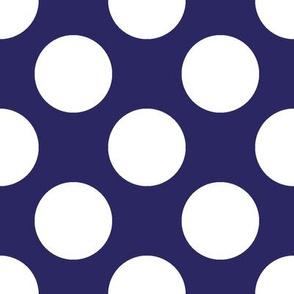 Polka Dot Navy