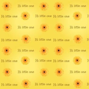 Hi little one - daisy