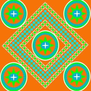 Byzantine_Tile_OrangeLimeTurquoise