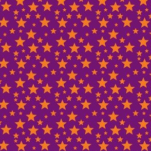 Orange star on Purple
