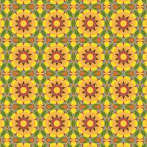 Summery Yellow Kaleidoscope