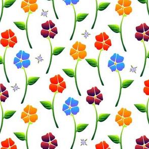 bouquet carpet white