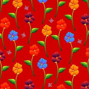 bouquet carpet red