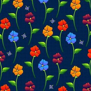 bouquet carpetb blue