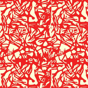 red woodcut