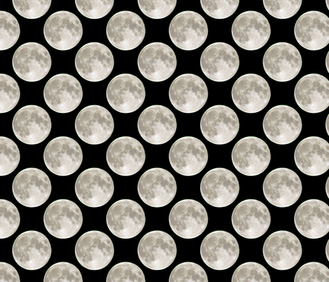 Moon Polka Dots fabric by eclectic_house on Spoonflower - custom fabric
