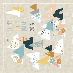 Climb Fly Dream 2016 (tea towel calendar)