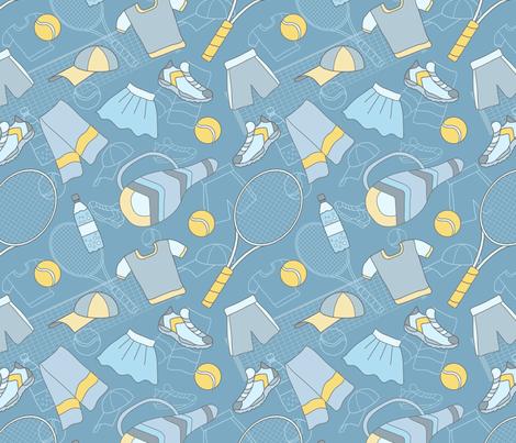 Tennis-01 fabric by milta on Spoonflower - custom fabric
