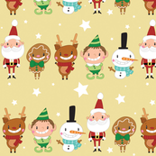 Christmas Crew - Yellow - Line - Large