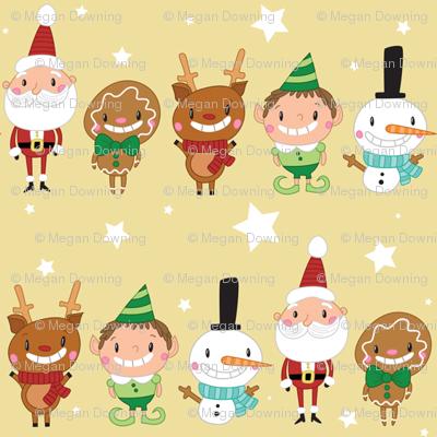 Christmas Crew - Yellow - Line - Small