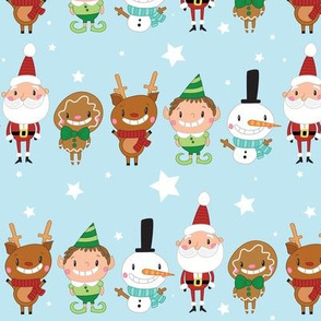 Christmas Crew - Blue - Line - Large