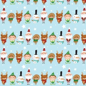 Christmas Crew -  Blue - Line - Small