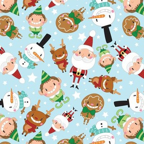 Christmas Crew - Blue - Scattered - Large