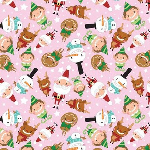 Christmas Crew - Pink - Scattered - Medium