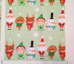 Christmas Crew - Green - Line - Large