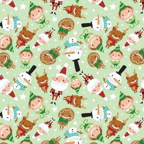 Christmas Crew - Green - Scattered - Medium