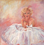 Marilyn in diaphonous dress