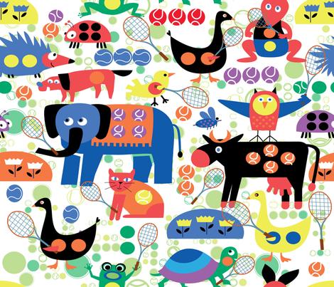 GRAND SLAM ANIMALS fabric by deeniespoonflower on Spoonflower - custom fabric